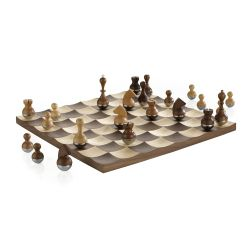 Living Umbra color brown   WOBBLE Chess Set online price for sale:  199.00 €