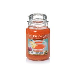 Scented candle Yankee Candle color orange   Passion Fruit Martini Large Jar online price for sale:  29.90 €