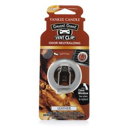 Car scent Yankee Candle color brown   Leather Vent Clip online price for sale:  5.99 €
