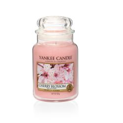Scented candle Yankee Candle color pink   Cherry Blossom Large Jar online price for sale:  29.90 €