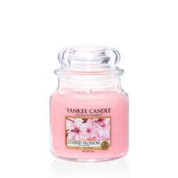 Scented candle Yankee Candle color pink   Cherry Blossom Medium Jar online price for sale:  24.90 €