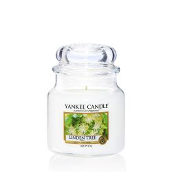 Scented candle Yankee Candle color white   Linden Tree Medium Jar online price for sale:  24.90 €