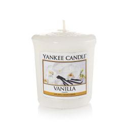 Scented candle Yankee Candle color white   Vanilla Votive Candle online price for sale:  2.65 €