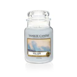 Scented candle Yankee Candle color light blue   Sea Air Large Jar online price for sale:  22.43 €