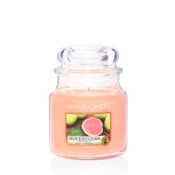 Scented candle Yankee Candle color orange   Delicious Guava Medium Jar online price for sale:  24.90 €