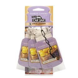 Fragrances for cars Yankee Candle color violet   Lemon Lavender Car Jar TRIO PACK online price for sale:  5.99 €