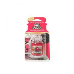 Fragrances for cars Yankee Candle color red   Red Raspberry Car Jar Ultimate online price for sale:  5.99 €