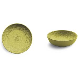 Living Emporio Zani color yellow   Soup Plate MONO yellow online price for sale:  9.50 €