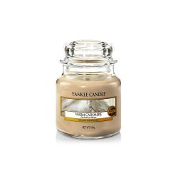 Scented candle Yankee Candle color beige   Warm Cashmere  Small Jar online price for sale:  11.90 €