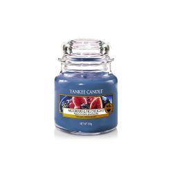 Scented candle Yankee Candle color blue   Mulberry & Fig Delight Small Jar online price for sale:  11.90 €