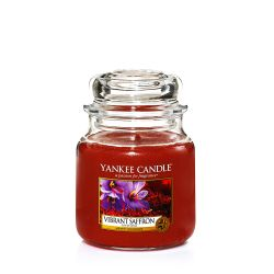 Scented candle Yankee Candle color brown   Vibrant Saffron Medium Jar online price for sale:  24.90 €