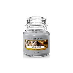 Scented candle Yankee Candle color grey   Crackling Wood Fire Small Jar online price for sale:  11.90 €