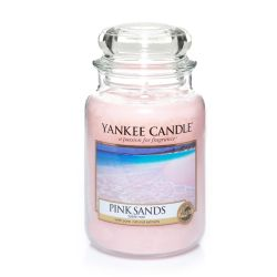Scented candle Yankee Candle color pink   Pink Sands Large Jar online price for sale:  29.90 €