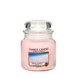 Scented candle Yankee Candle color pink   Pink Sands Medium Jar online price for sale:  24.90 €