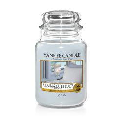 Scented candle Yankee Candle color light blue   A Calm & Quiet Place Large Jar online price for sale:  29.90 €