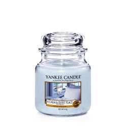 Scented candle Yankee Candle color light blue   A Calm & Quiet Place Medium Jar online price for sale:  24.90 €