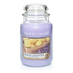 Scented candle Yankee Candle color violet   Lemon Lavender Large Jar online price for sale:  29.90 €