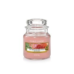 Scented candle Yankee Candle color pink   Sun-Drenched Apricot Rose Small Jar online price for sale:  11.90 €