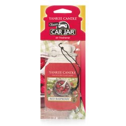 Fragrances for cars Yankee Candle color red   Red Raspberry Car Jar online price for sale:  2.99 €