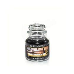 Scented candle Yankee Candle color black   Black Coconut Small Jar online price for sale:  11.90 €