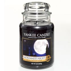 Scented candle Yankee Candle color black   Midsummer's Night Large Jar online price for sale:  29.90 €