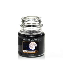 Scented candle Yankee Candle color black   Midsummer's Night Medium Jar online price for sale:  24.90 €