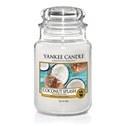 Scented candle Yankee Candle color white   Coconut Splash Large Jar online price for sale:  29.90 €