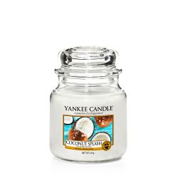 Scented candle Yankee Candle color white   Coconut Splash Medium Jar online price for sale:  24.90 €