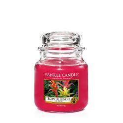 Scented candle Yankee Candle color red   Tropical Jungle Medium Jar online price for sale:  24.90 €