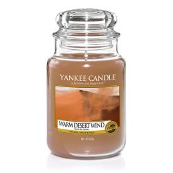 Scented candle Yankee Candle color brown   Warm Desert Wind Large Jar online price for sale:  29.90 €