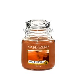 Scented candle Yankee Candle color brown   Warm Desert Wind Medium Jar online price for sale:  24.90 €