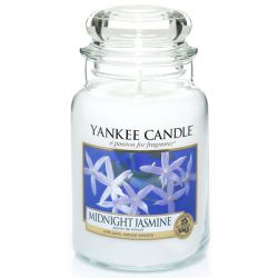 Scented candle Yankee Candle color white   Midnight Jasmine Large Jar online price for sale:  29.90 €