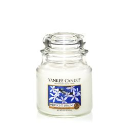 Scented candle Yankee Candle color white   Midnight Jasmine Medium Jar online price for sale:  24.90 €