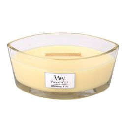 Scented candle WoodWick color yellow   Ellipse Candle LEMONGRASS & LILY online price for sale:  19.63 €