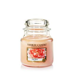 Scented candle Yankee Candle color pink   Peony Medium Jar online price for sale:  24.90 €