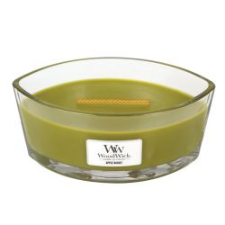 Scented candle WoodWick color green   Ellipse Candle APPLE BASKET online price for sale:  34.90 €