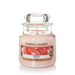 Scented candle Yankee Candle color pink   Peony Small Jar online price for sale:  11.90 €
