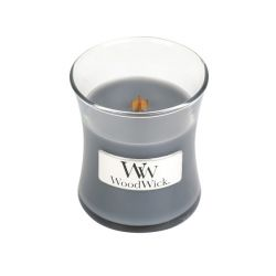 Scented candle WoodWick color grey   Small Candle EVENING ONYX online price for sale:  11.90 €