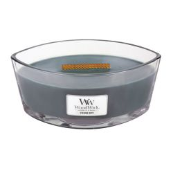 Scented candle WoodWick color grey   Ellipse Candle EVENING ONYX online price for sale:  34.90 €