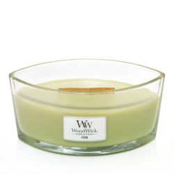 Scented candle WoodWick color green   Ellipse Candle FERN online price for sale:  34.90 €