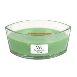 Scented candle WoodWick color green   Ellipse Candle PALM LEAF online price for sale:  34.90 €