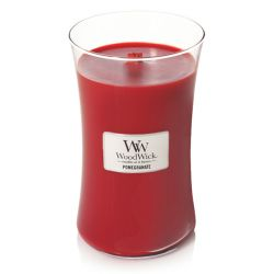 Scented candle WoodWick color red   Large Candle POMEGRANATE online price for sale:  32.90 €