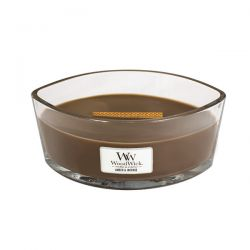 Scented candle WoodWick color brown   Ellipse Candle AMBER & INCENSE online price for sale:  34.90 €