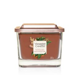 Scented candle Yankee Candle color brown   Sweet Orange Spice Medium Jar online price for sale:  24.90 €