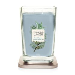 Scented candle Yankee Candle color blue   Coastal Cypress Large Jar online price for sale:  29.90 €