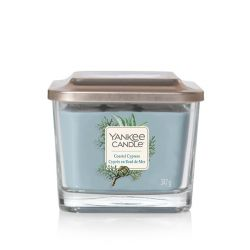 Scented candle Yankee Candle color blue   Coastal Cypress Medium Jar online price for sale:  24.90 €