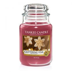 Scented candle Yankee Candle color red   Glittering Star Large Jar online price for sale:  29.90 €