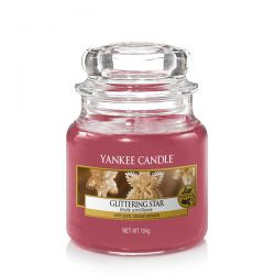 Scented candle Yankee Candle color red   Glittering Star Small Jar online price for sale:  11.90 €