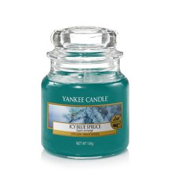 Scented candle Yankee Candle color blue   Icy Blue Spruce Small Jar online price for sale:  11.90 €