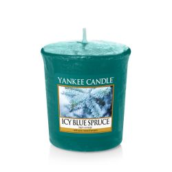 Scented candle Yankee Candle color blue   Icy Blue Spruce Votive Candle online price for sale:  2.65 €